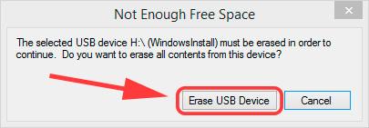 Windows7 USB/DVD Download Tool - Стираем все данные на флешке и приступаем к записи данных